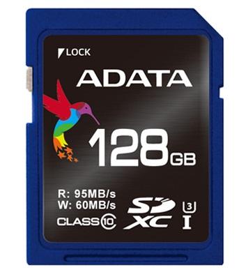 ADATA Premier Pro SDXC karta 128GB UHS-I U3 Class 10 (95/60MB/s)