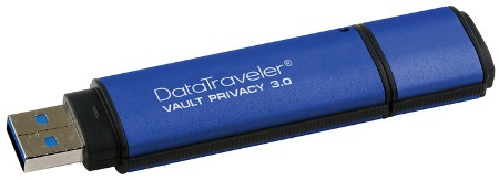 Kingston DataTraveler Vault Privacy 3.0 32GB USB 256bit AES plné šifr., hliník