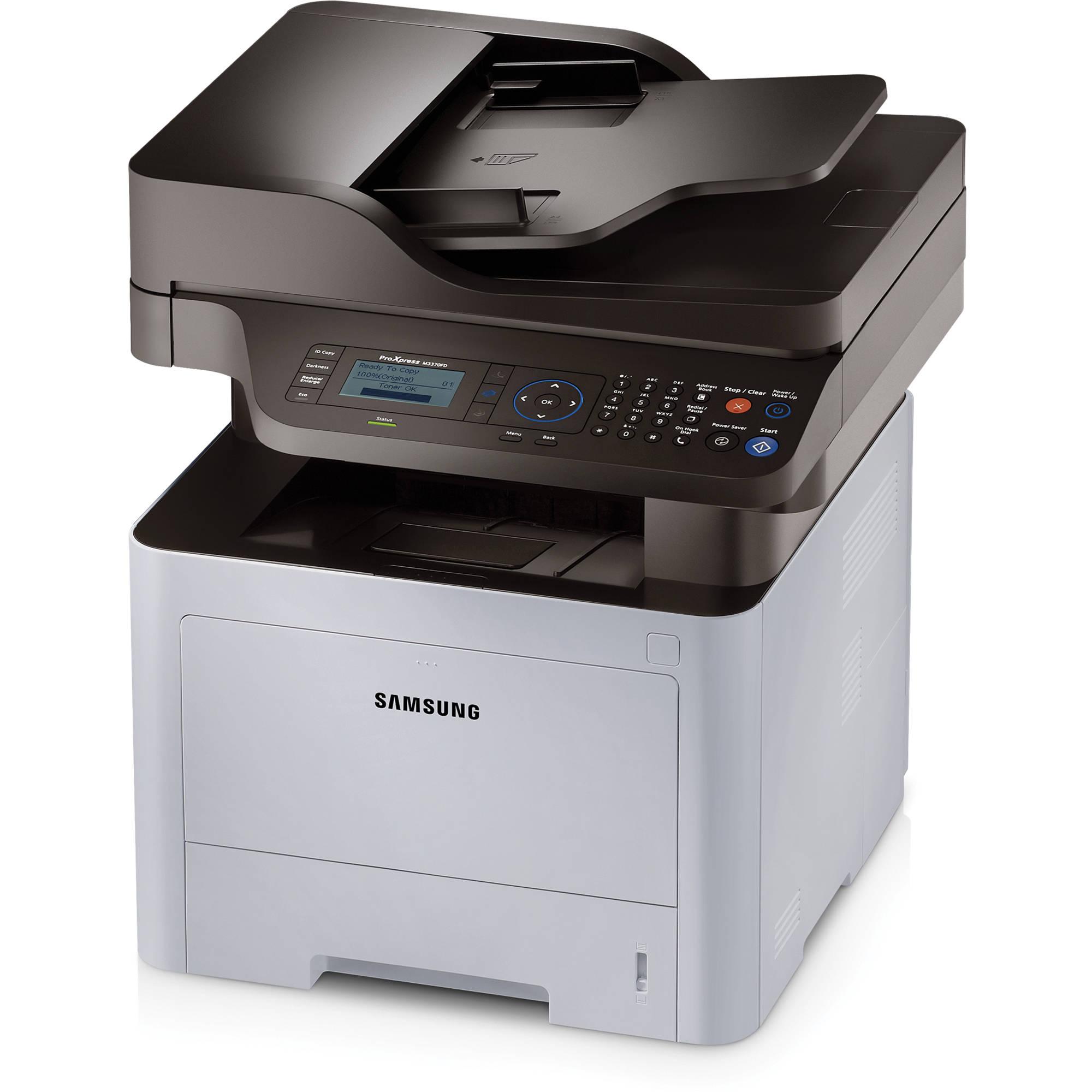 Samsung SL-M3370FD,A4,33ppm,1200x1200dpi,256Mb,PCL+PS,USB,ethernet,duplex,ADF,fax