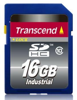 Transcend 16GB SDHC průmyslová paměťová karta, Class 10