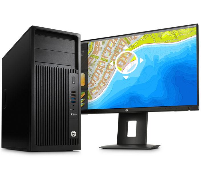 HP Z240 TWR Xeon E3-1225v5 3.3 8M / 8GB DDR4-2133 nECC (2x4GB) / 1TB 7200 RPM / NVIDIA Quadro K620 2GB/ W10 Pro + W7 Pr
