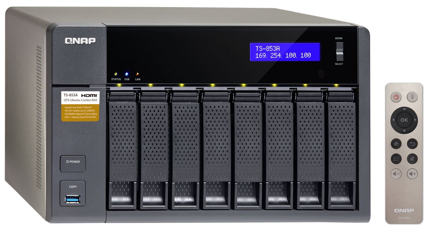 QNAP TS-853A-4G (1,6G/4GB RAM/8xSATA)