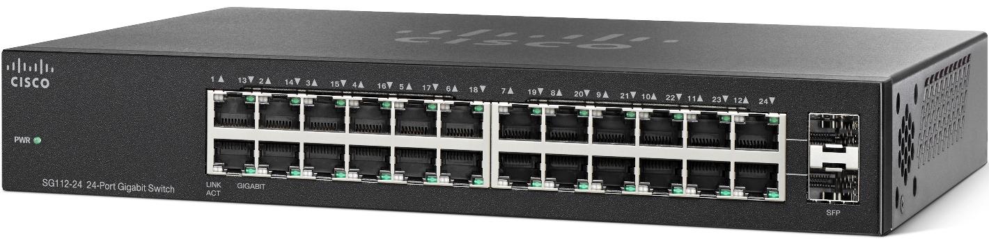 Cisco switch SG112-24, 22x10/100/1000, 2xGE/SFP, bez managementu
