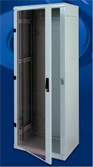 19' TRITON rozvaděč stojanový 42U/800x1000 skleněné dveře - dvoubox