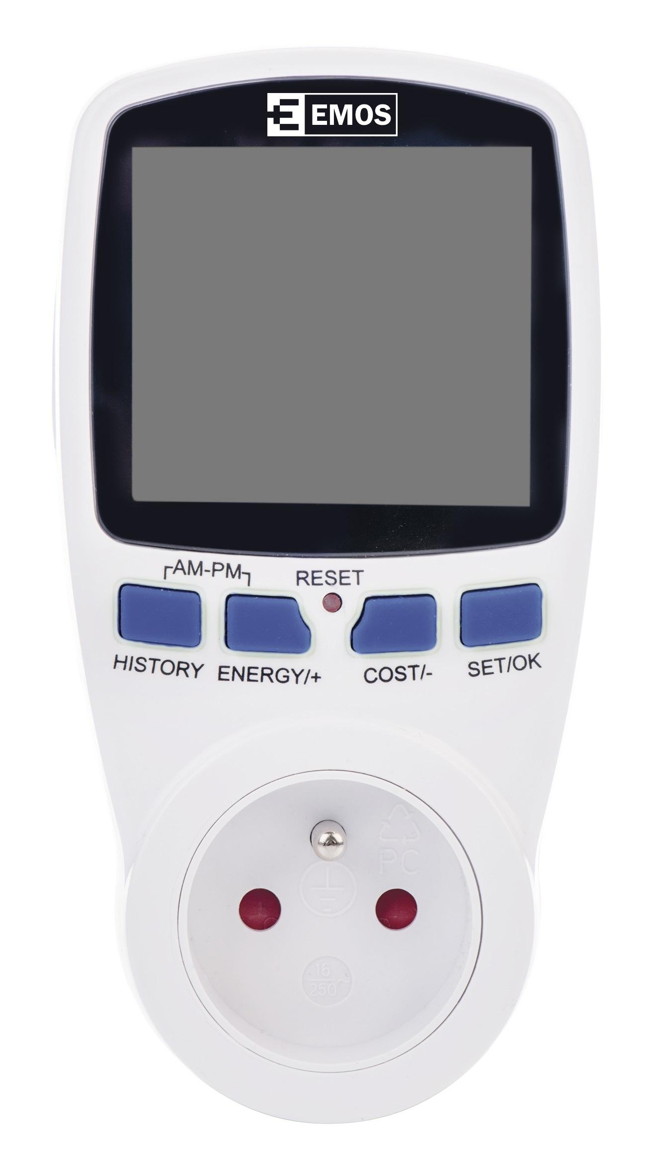 Emos wattmetr P5801 - měřič spotřeby elektr. energie