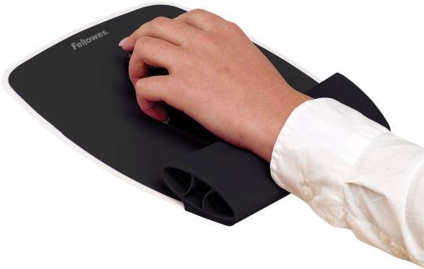 Fellowes silikonová podložka pod myš a zápěstí, černá