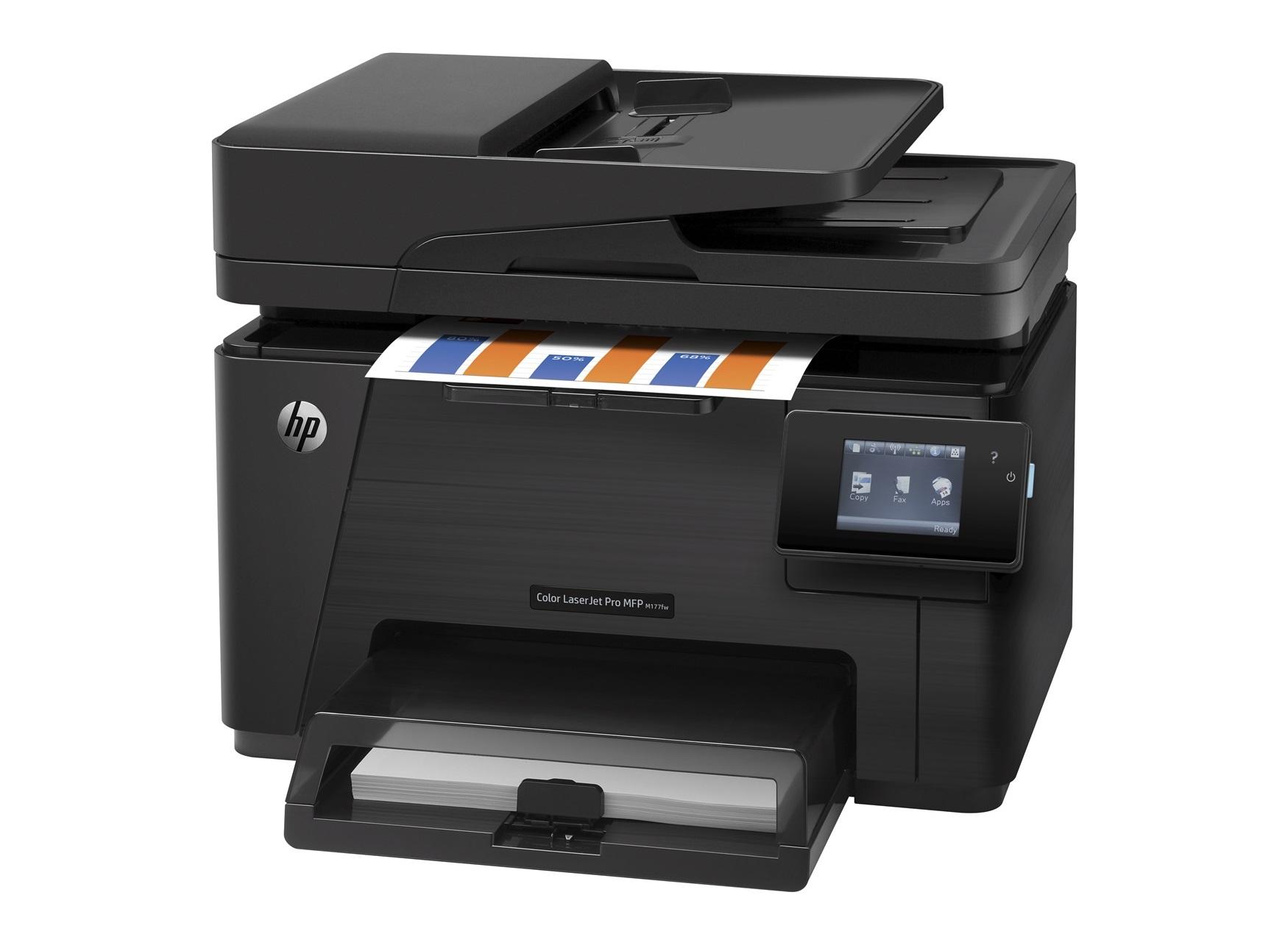 HP CLJ Pro MFP M177fw (A4, 16/4 ppm, USB 2.0, Ethernet, Wi-Fi, Print/Scan/Copy/FAX)