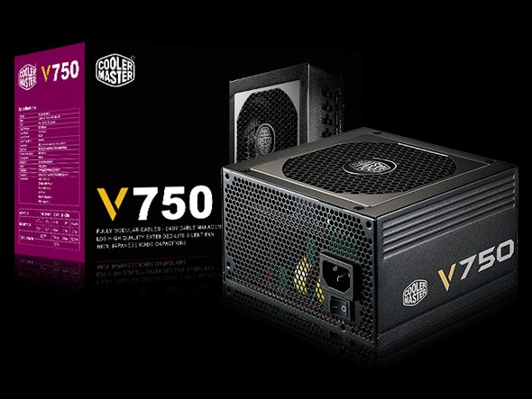 CoolerMaster zdroj Vanquard series 750W PFC v2.31, 12cm fan, 80 Plus Gold, modular
