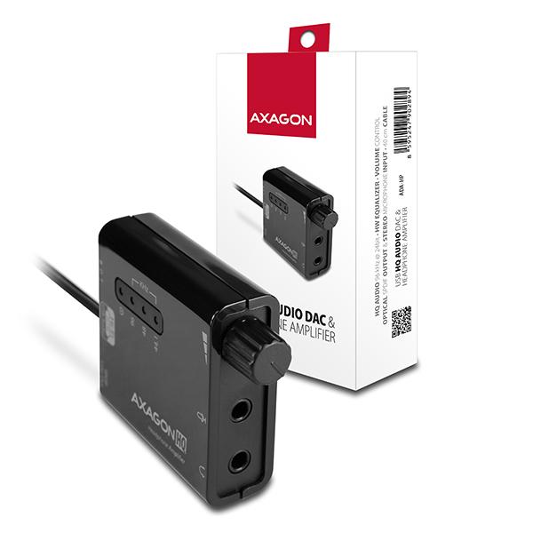 AXAGON - ADA-HP USB2.0 - HQ audio 96kHz S/PDIF + sluchátkový zesilovač