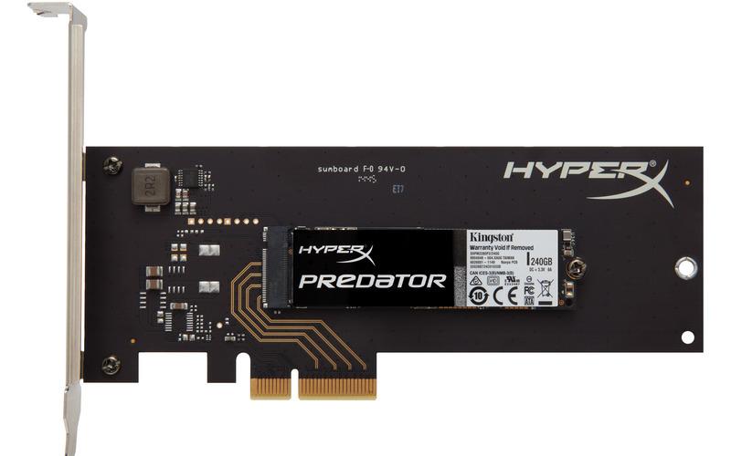 Kingston Flash SSD 240GB HyperX Predator PCIe Gen2 x4 (HHHL)