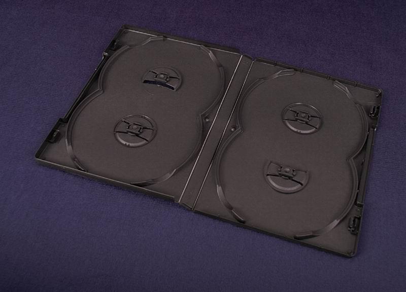 Esperanza Plastové krabičky na 4 DVD 14mm   100 ks, černé