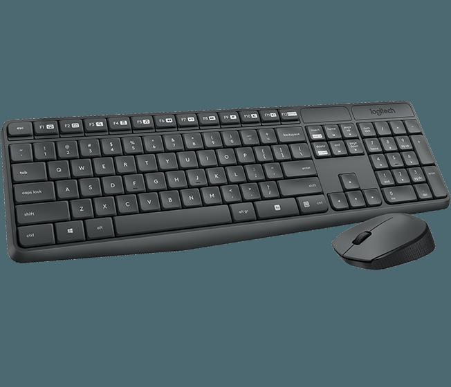Logitech klávesnice s myší Wireless Combo MK235, CZ, černá