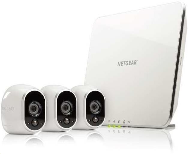 ARLO 3 x HD Camera WiFi + Smart Home Base Day/Night In/0utdoor (VMS3330)