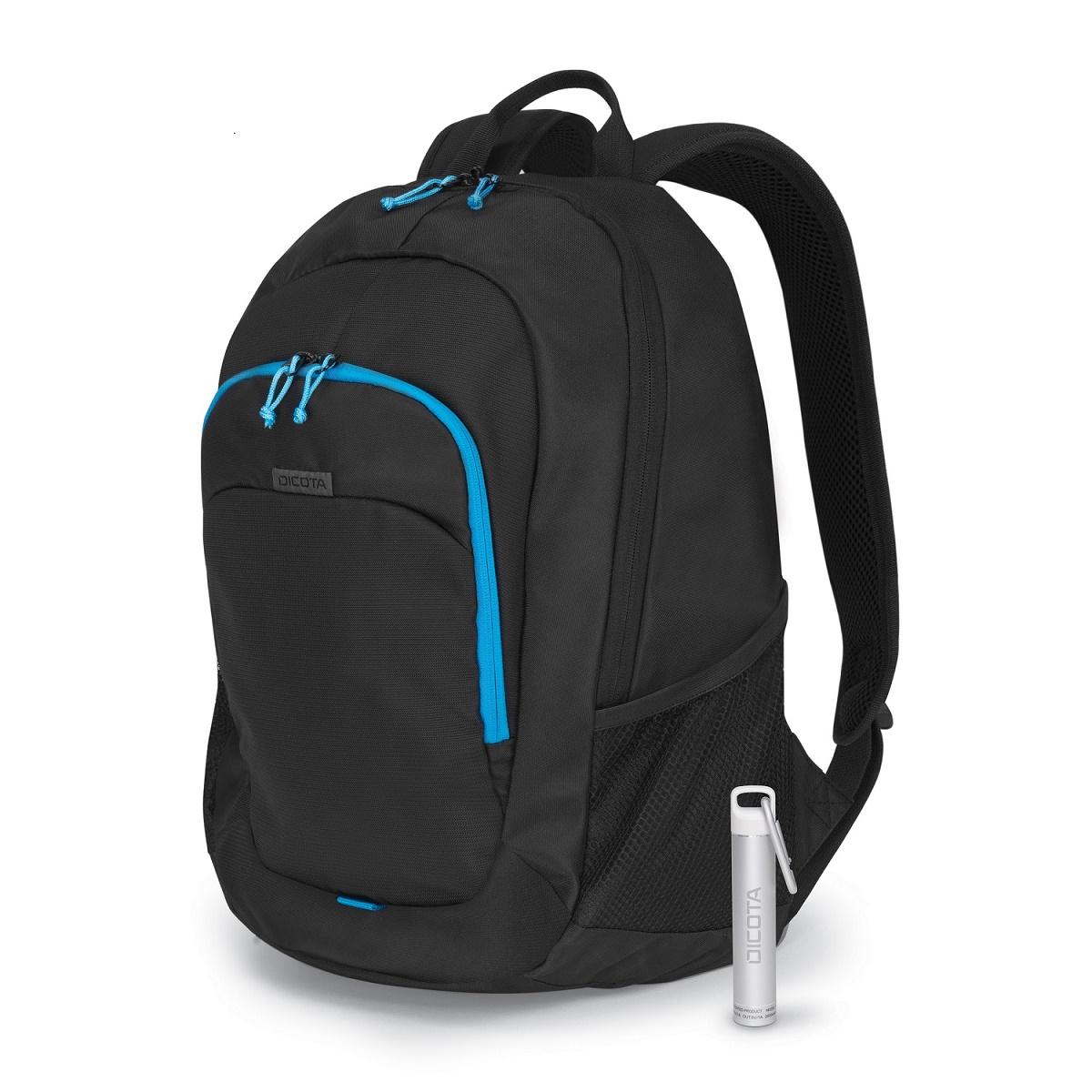 """Dicota Backpack Power Kit Value 14""""-15,6"""" - Černý + Power Banka ZDARMA"""