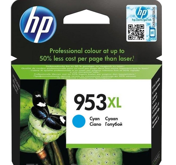 HP F6U16AE 953XL High Yield Cyan Original Ink Cartridge