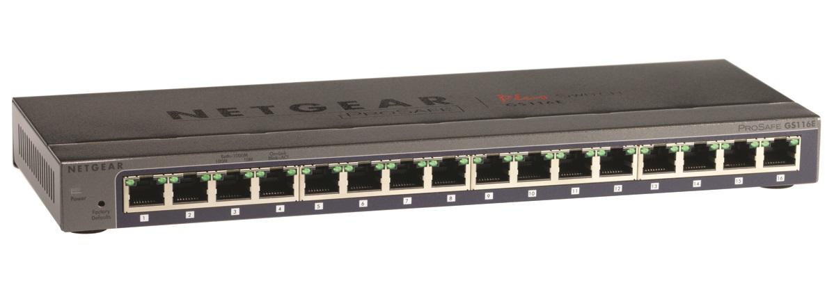 NETGEAR 16xGb Plus switch,GS116E