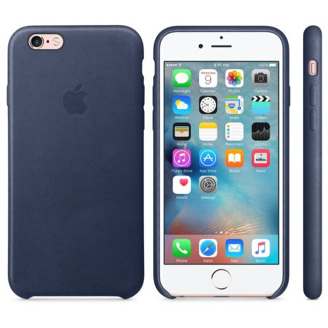 iPhone 6S Leather Case Midnight Blue