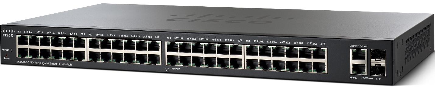 Cisco SG220-50-K9-EU 50xGigabit Smart+ Switch