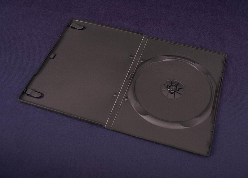 Esperanza Plastové krabičky na 1 DVD 9 mm   100 ks, černé