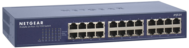 NETGEAR 24x10/100 Desktop/Rack switch;JFS524