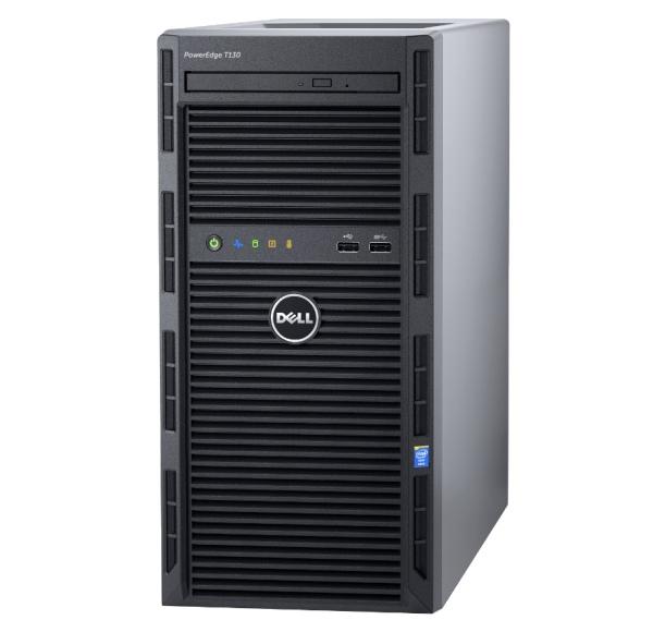 DELL PE T130/E3-1270v6/16GB/2x2TB NLSAS/DRW/2xGL/H330/iDRAC BAS/1x290W
