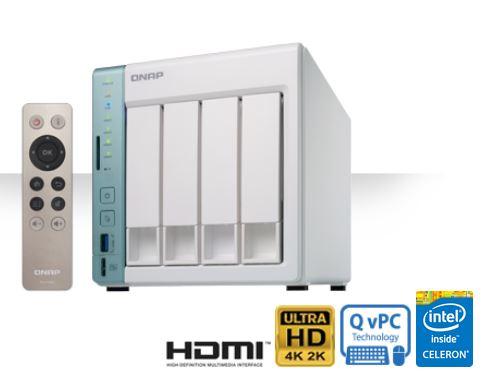 QNAP TS-451A-4G TWR 4x 3.5/2.5 Celeron 2,5 DC 4GB 2xGlan 3xUSB HDMI SDcards