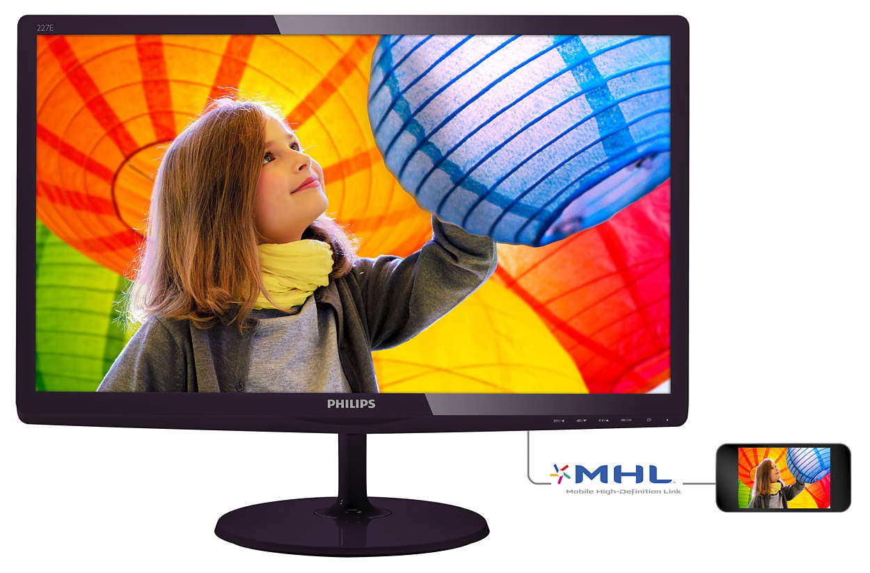 "Philips LCD 227E6LDSD 21,5""wide/1920x1080/20mil:1/1ms/VGA/DVI/HDMI/LED"