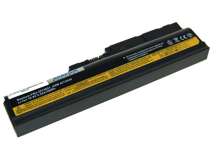 Náhradní baterie AVACOM Lenovo ThinkPad SL300/SL400/SL500 Series Li-ion 10,8V 5200mAh/ 56Wh