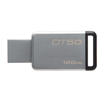 KINGSTON 128GB USB 3.1 DataTraveler 50 kovový