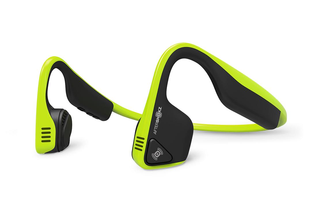 AfterShokz Trekz Titanium, Bluetooth sluchátka před uši, zelená