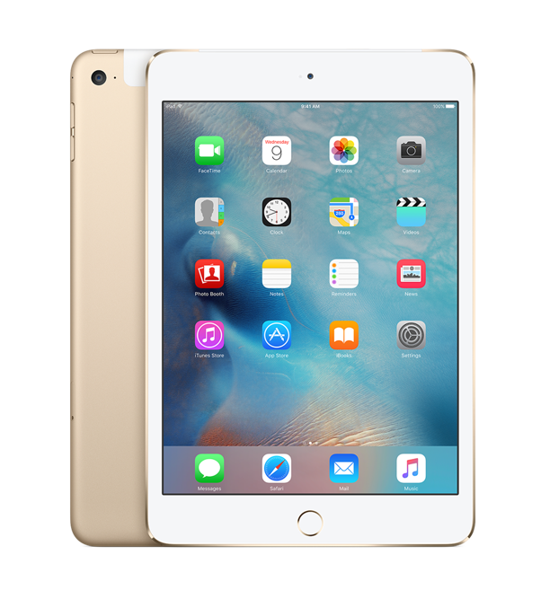 iPad mini 4 Wi-Fi+Cell 128GB Gold