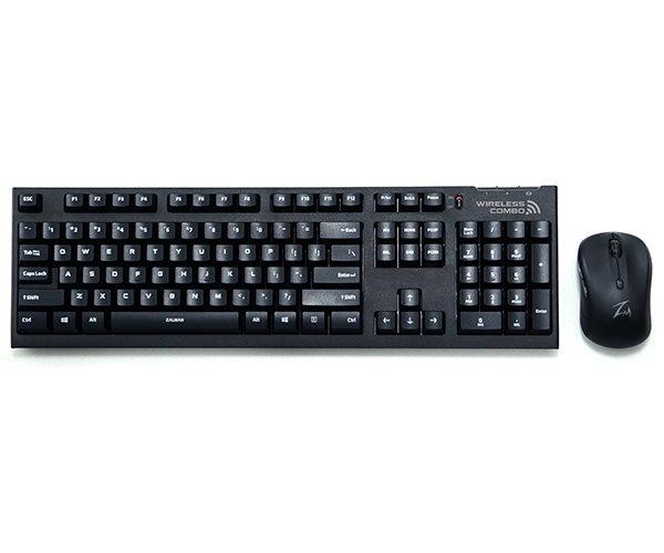Zalman set klávesnice + myš ZM-KM870RF, bezdrátový, black, ENG
