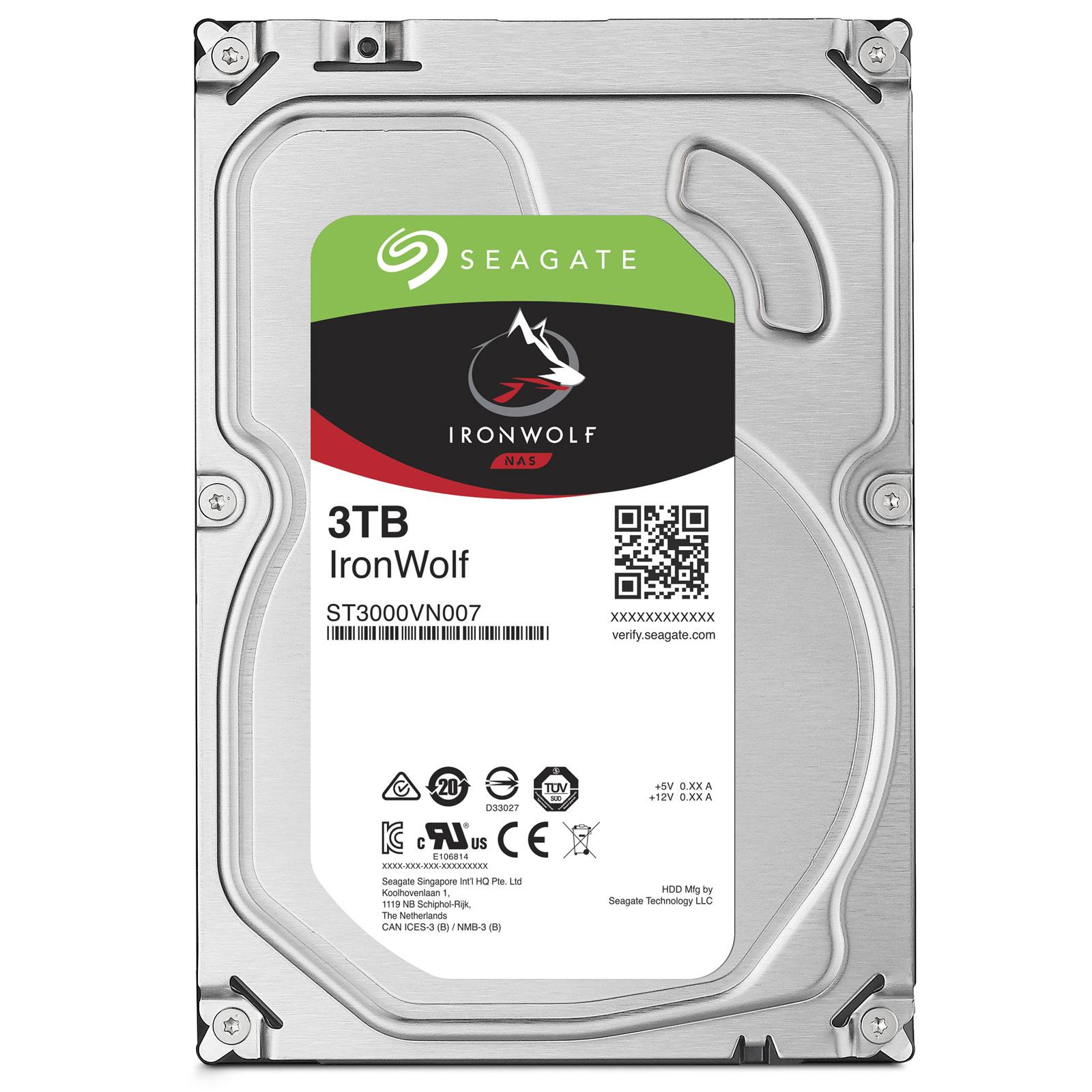 "Seagate IronWolf, NAS HDD, 3TB, 3.5"", SATAIII, 64MB cache, 5.900RPM"