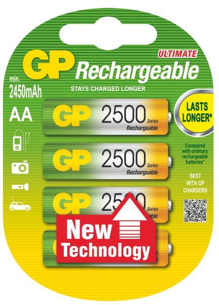 GP AA ReCyko+ 2500 series, nabíjecí, 4 ks