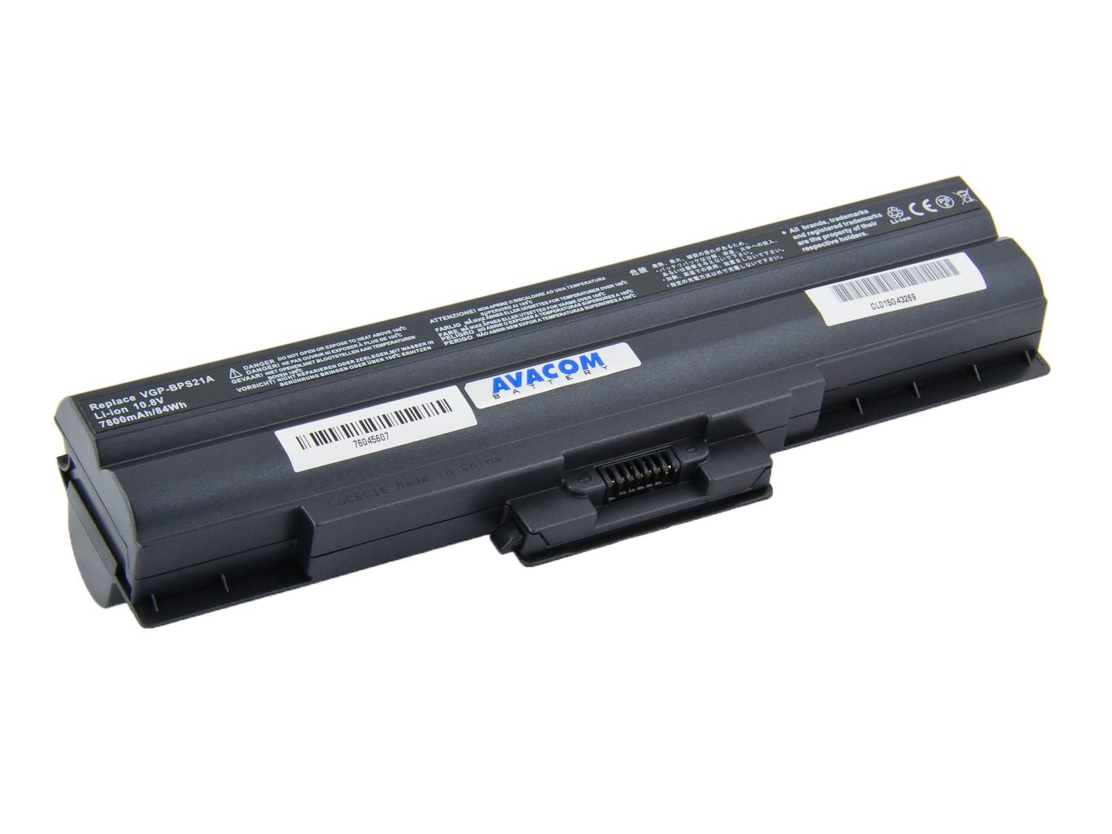 Náhradní baterie AVACOM Sony Vaio VPCS series, VGP-BPS21 Li-ion 10,8V 7800mAh/84Wh černá