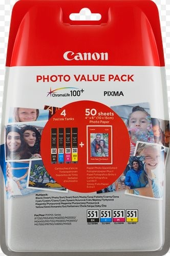 Canon cartridge XL CLI-551 C/M/Y/BK PHOTO VALUE