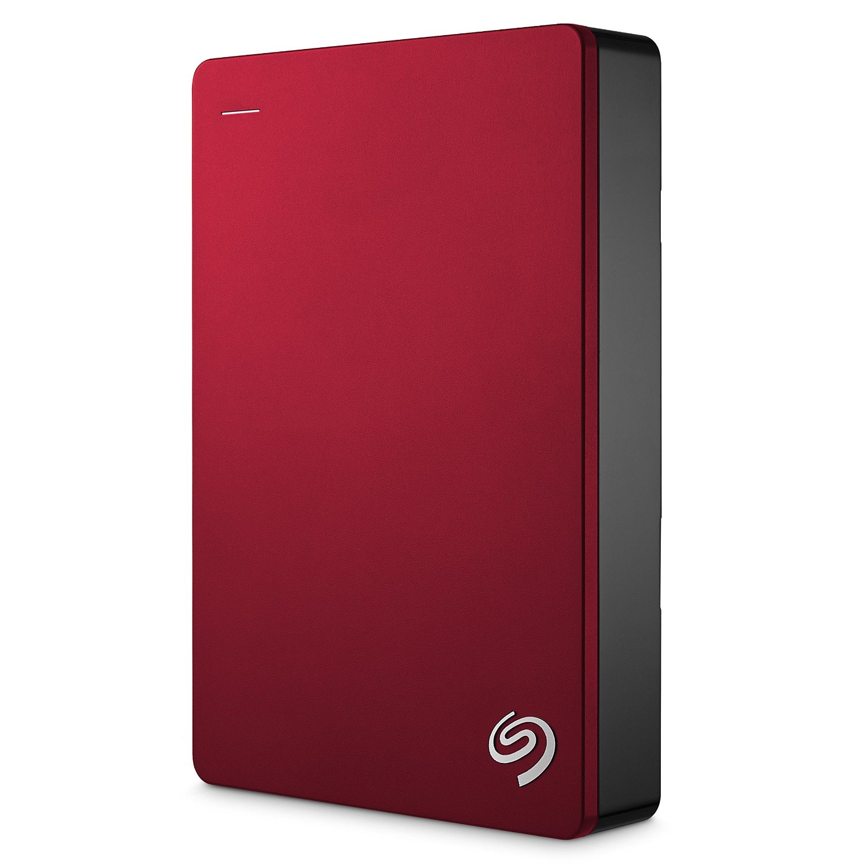 """Seagate Backup Plus, 4TB externí HDD, 2.5"""", USB 3.0, kovový červený"""