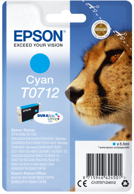 EPSON cartridge T0712 cyan (gepard)