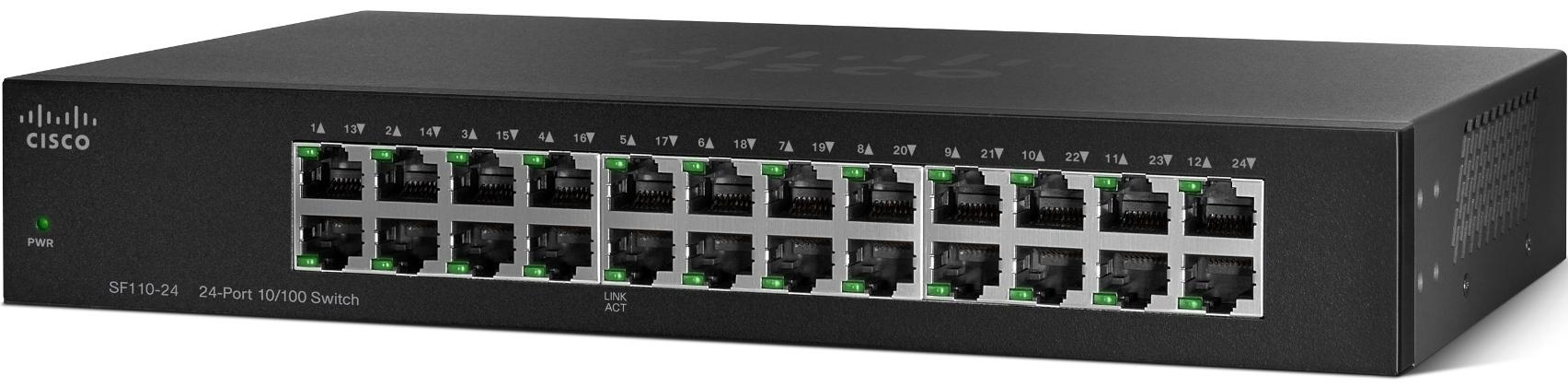 Cisco SF110-24-EU, 24x10/100 Desktop Switch