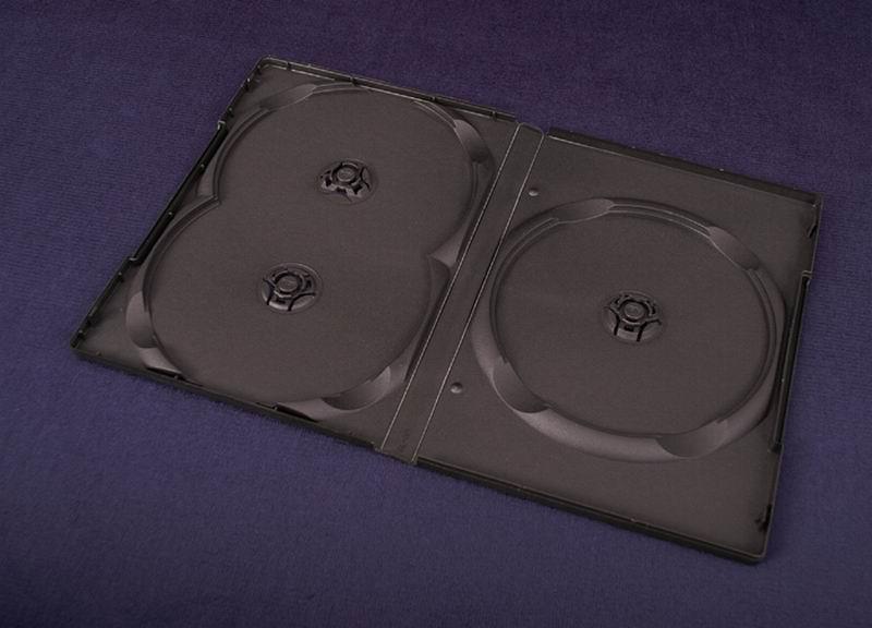 Esperanza Plastové krabičky na 3 DVD 14mm   100 ks, černé