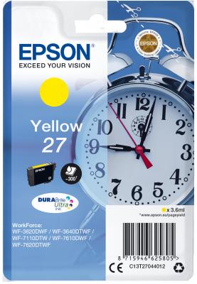 Epson Singlepack Yellow 27 DURABrite Ultra Ink