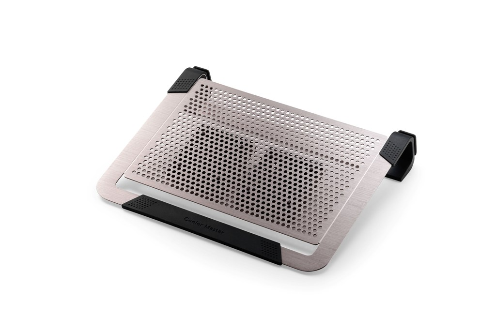 "Coolermaster chladicí ALU podstavec NotePal U2 PLUS pro NTB 12-17"" titanium, 2x8cm fan"