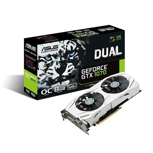 ASUS DUAL-GTX1070-O8G, 8GB GDDR5 (256 bit), 2x HDMI, DVI, 2x DP