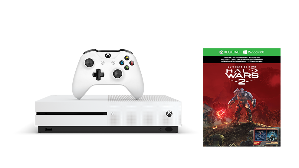 XBOX ONE S 1 TB + 1 x hra (Halo Wars 2 Ultimate Edition)