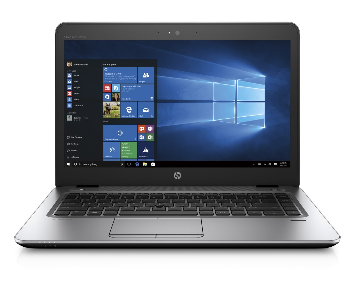 "HP EliteBook 840 G4, i7-7500U, 14"" FHD, 8GB, 512GB SSD, ac, BT, FpR, backlit kbd, W10pro"
