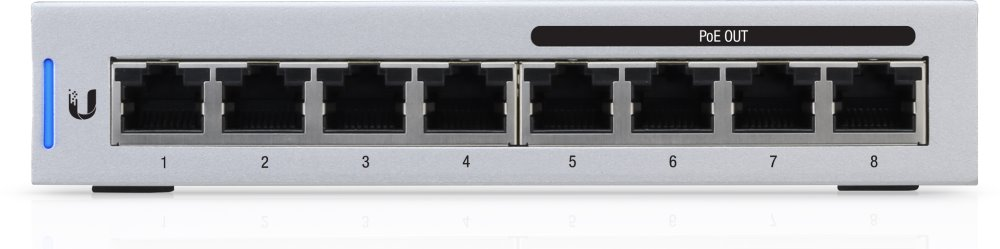 UBNT UniFi Switch, 8-Port, 4x PoE Out, 60W