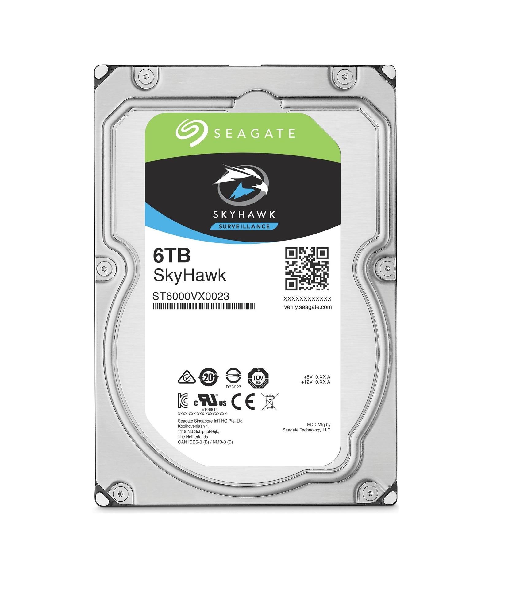 Seagate SkyHawk HDD, 6TB, SATAIII, 256MB cache, 7.200RPM