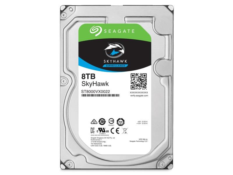 Seagate SkyHawk HDD, 8TB, SATAIII, 256MB cache, 7.200RPM
