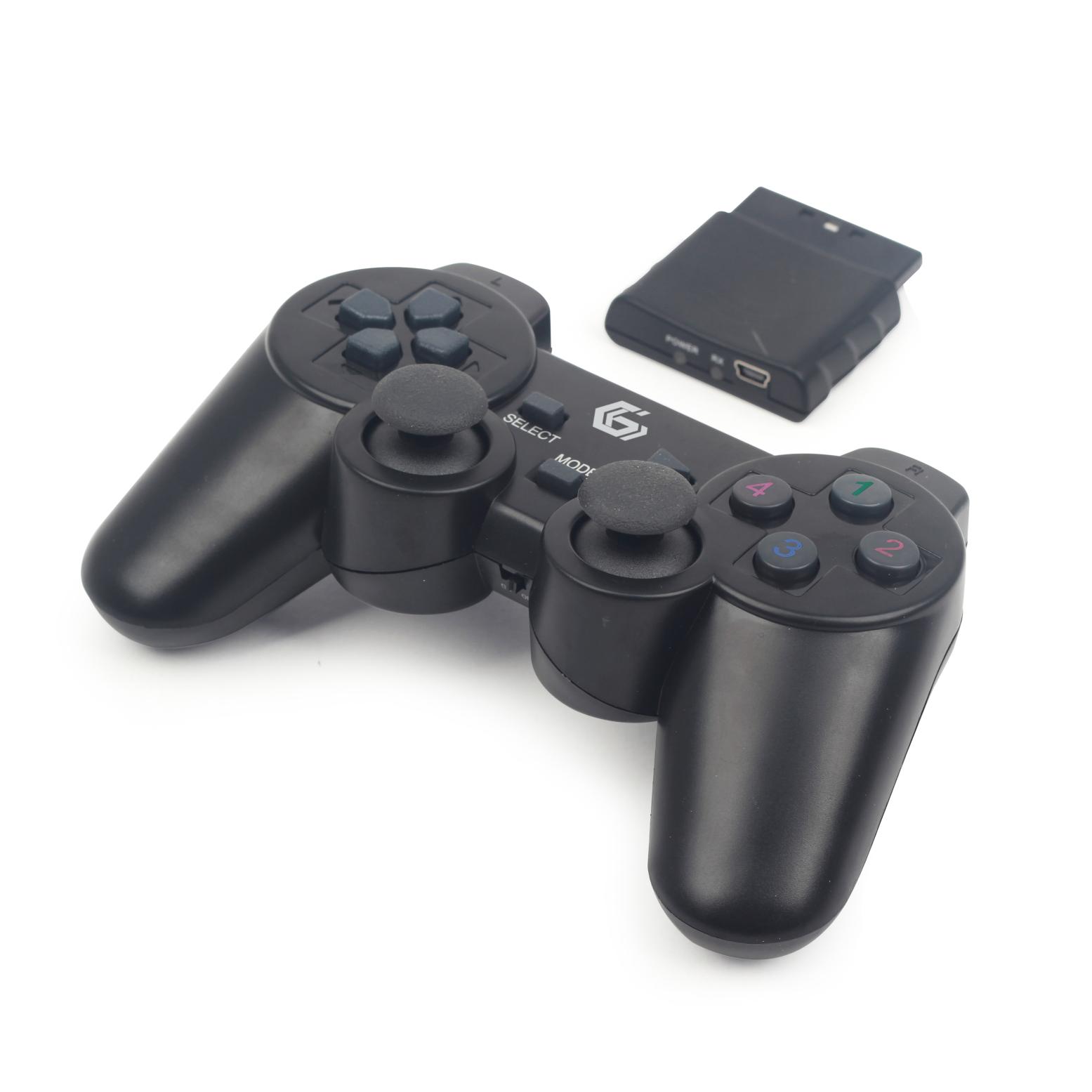 Gembird bezdrátový gamepad, PS2/PS3/PC JPD-WDV-01 duální vibrace