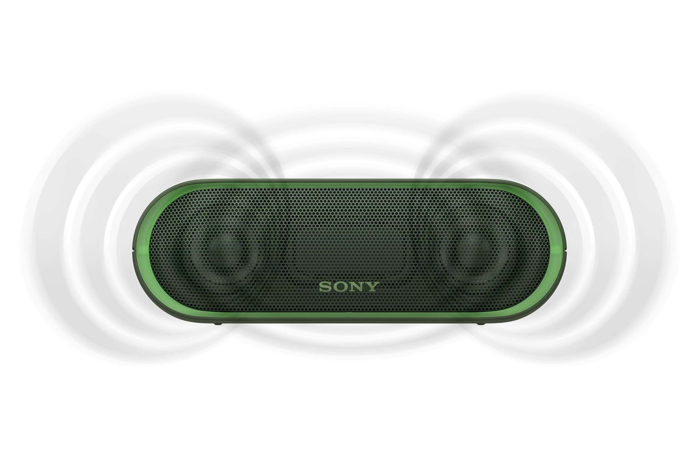 SONY SRS-XB20G Přenosný bezdrátový reproduktor s technologií Bluetooth, Green